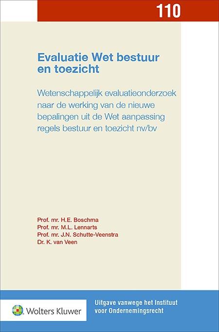 Evaluatie Wet bestuur en toezicht