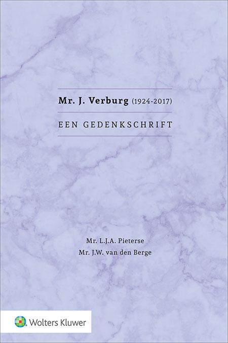 Mr. J. Verburg (1924-2017) Een gedenkschrift
