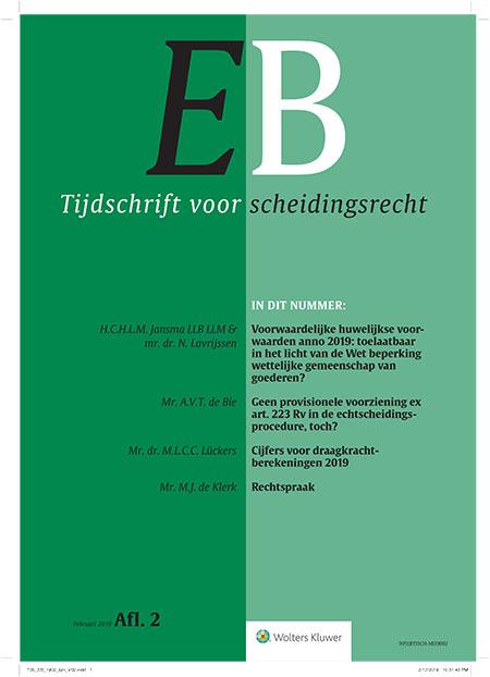 EB Tijdschrift voor scheidingsrecht