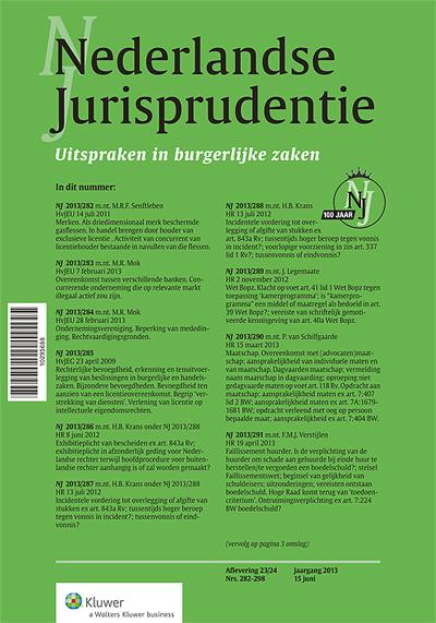 Nederlandse Jurisprudentie Burgerlijke Zaken