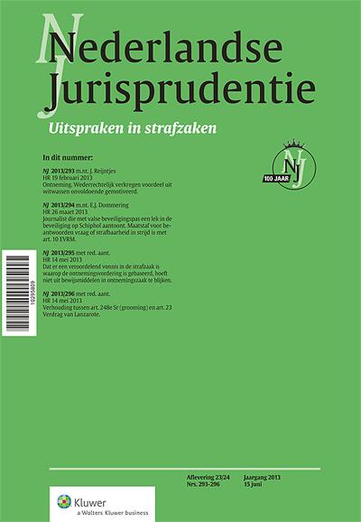 Nederlandse Jurisprudentie Strafzaken