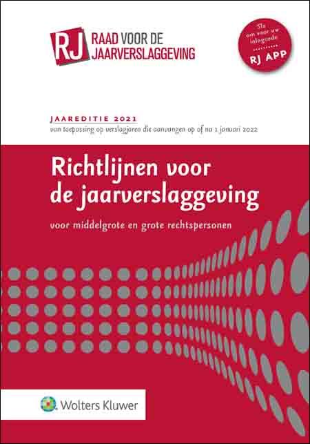 Richtlijnen voor de jaarverslaggeving, middelgrote en grote rechtspersonen