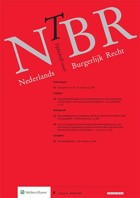 Nederlands Tijdschrift voor Burgerlijk Recht (NTBR)