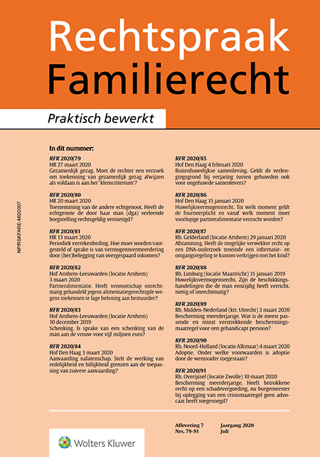 Rechtspraak Familierecht