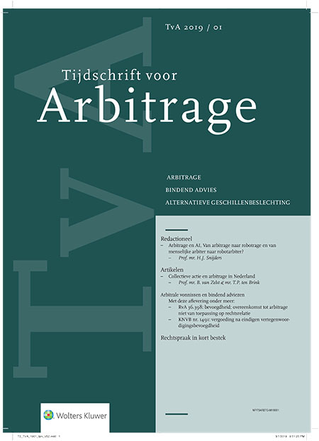 Tijdschrift voor Arbitrage