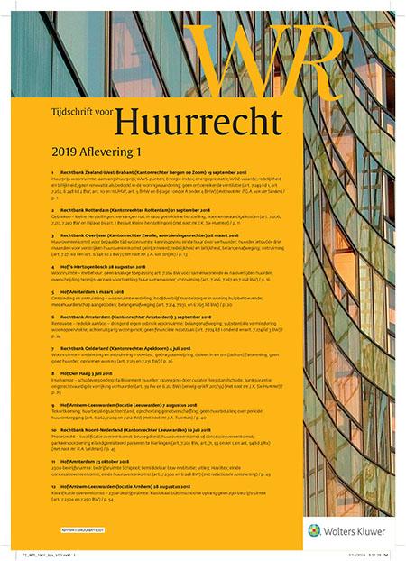 WR Tijdschrift voor huurrecht