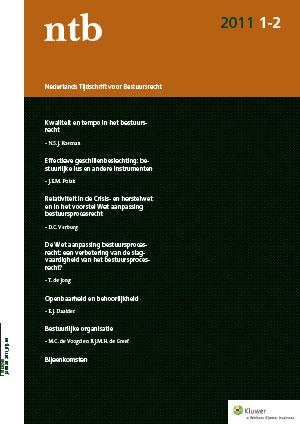 Nederlands Tijdschrift voor Bestuursrecht